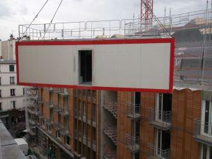 7 juillet 2015.démontage de la baraque de chantier
