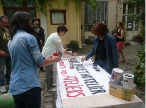 Banderoles 48 rue Ramponeau